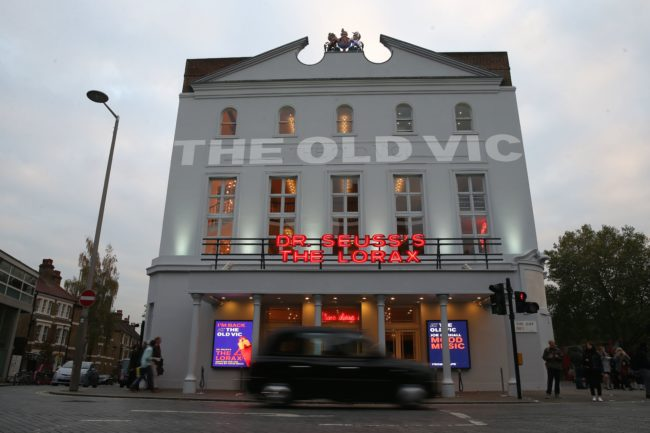 General views of The Old Vic theatre on the Cut in central London on November 2, 2017. Former workers at The Old Vic, where US actor Kevin Spacey was its artistic director from 2003 to 2015, told The Guardian newspaper that the London theatre ignored allegations of groping and inappropriate sexual behaviour on November 2, 2017. / AFP PHOTO / Daniel LEAL-OLIVAS (Photo credit should read DANIEL LEAL-OLIVAS/AFP/Getty Images)