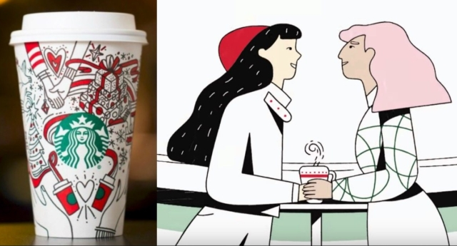 Is there a secret gay agenda on Starbucks' Christmas cups?