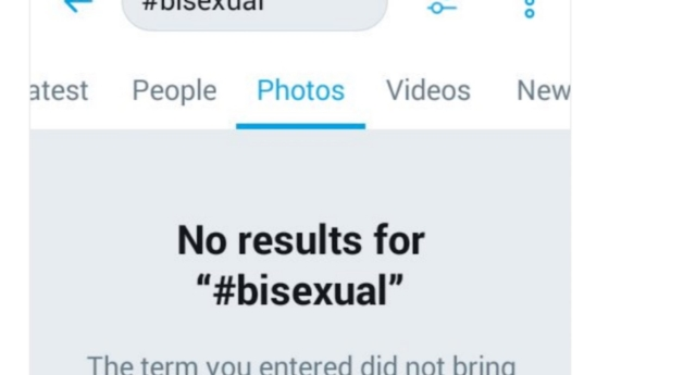No media shows up on Twitter for #Bisexual (Images: Twitter)
