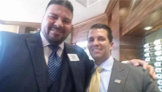 Ralph Shortey with Donald Trump Jr - the day after he was caught in the hotel room