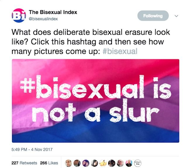 Twitter criticised for 'erasing' bisexual photos