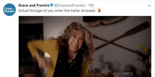 netflix s grace and frankie has dropped its season 4 trailer and it s everything you wanted. Black Bedroom Furniture Sets. Home Design Ideas