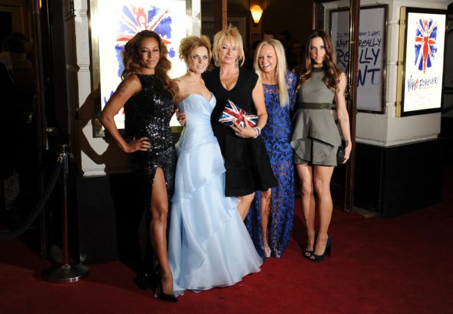 LONDON, UNITED KINGDOM - DECEMBER 11: Melanie Brown, Geri Halliwell, judy Craymer, Emma Bunton and Melanie Chisholm attend the press night of 'Viva Forever', a musical based on the music of The Spice Girls at Piccadilly Theatre on December 11, 2012 in London, England. (Photo by Stuart Wilson/Getty Images)