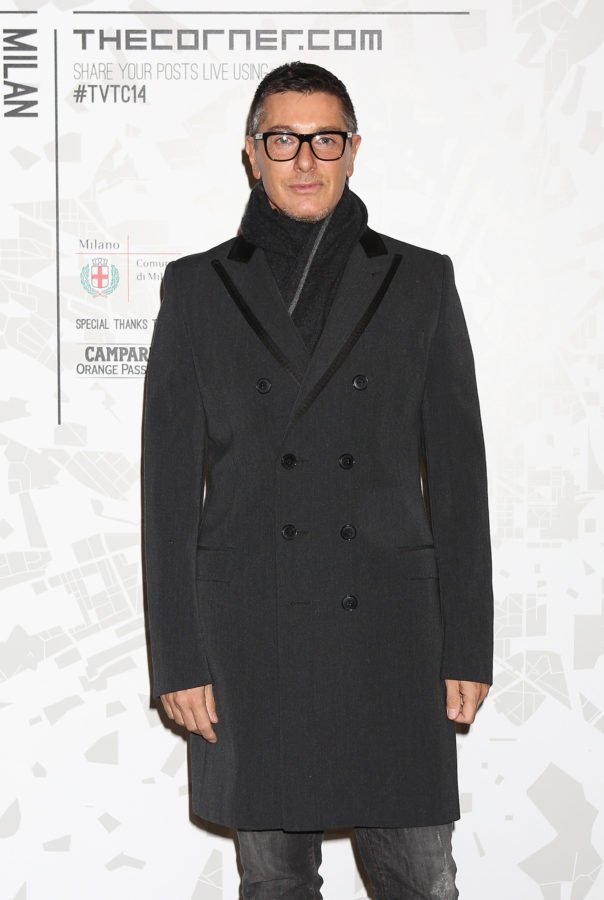 MILAN, ITALY - FEBRUARY 19: Stefano Gabbana attends the The Vogue Talents Corner fashion show during Milan Fashion Week Womenswear Autumn/Winter 2014 on February 19, 2014 in Milan, Italy. (Photo by Vincenzo Lombardo/Getty Images)