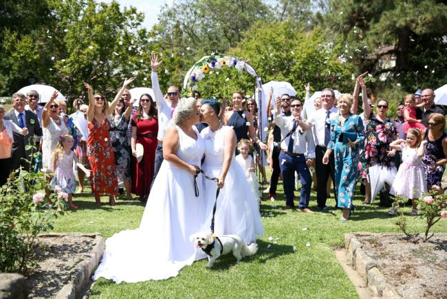 Australia's first same-sex couples get married