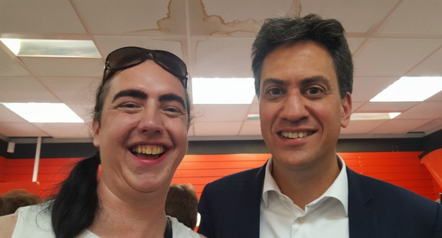 Dr Heather Peto, a prospective Labour candidate who is standing on an all-women shortlist, with former Labour leader Ed Miliband