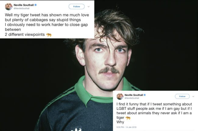 Neville Southall tiger tweets