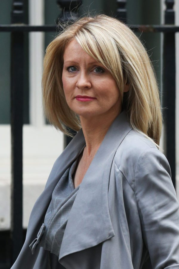 LONDON, ENGLAND - JULY 15:  Esther McVey, Minister for Employment and Disabilities, arrives at Downing Street on July 15, 2014 in London, England. British Prime Minister David Cameron is conducting a reshuffle of his Cabinet team with a greater number of women expected to be appointed to senior positions.  (Photo by Oli Scarff/Getty Images)