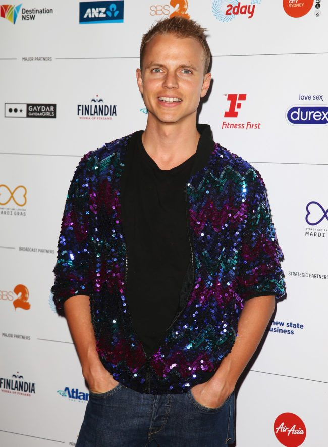 SYDNEY, AUSTRALIA - FEBRUARY 27: Shane Jenek (aka Courtney Act) arrives at the 2014 Sydney Gay & Lesbian Mardi Gras VIP Party on February 27, 2014 in Sydney, Australia. (Photo by Don Arnold/Getty Images)