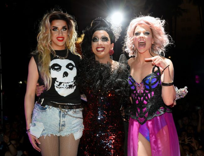Adore Delano, Biance Del Rio and Courtney Act