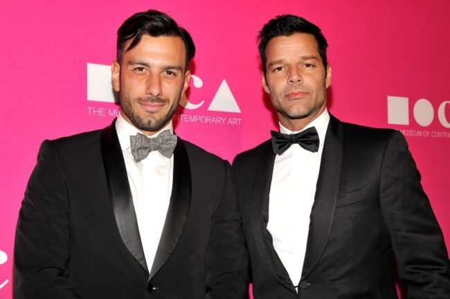 Ricky Martin and Jwan Yosef (Photo by John Sciulli/Getty Images for MOCA)