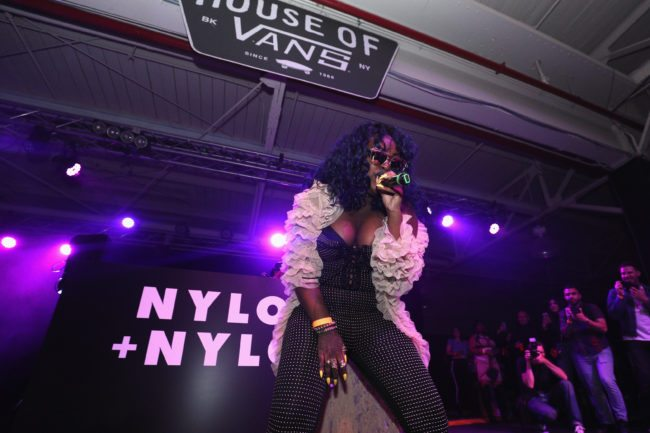 NEW YORK, NY - JUNE 02: Cupcakke performs on stage at NYLON + NYLON Guys Celebrate the Music Issue at House of Vans Brooklyn on June 2, 2017 in New York City. (Photo by Craig Barritt/Getty Images for Nylon)