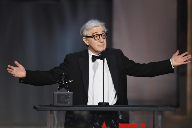 HOLLYWOOD, CA - JUNE 08:  Director-actor Woody Allen speaks onstage during American Film Institute's 45th Life Achievement Award Gala Tribute to Diane Keaton at Dolby Theatre on June 8, 2017 in Hollywood, California. 26658_007  (Photo by Kevin Winter/Getty Images)