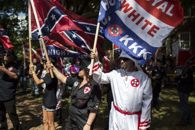 White supremacist protesters (Photo by Chet Strange/Getty Images)