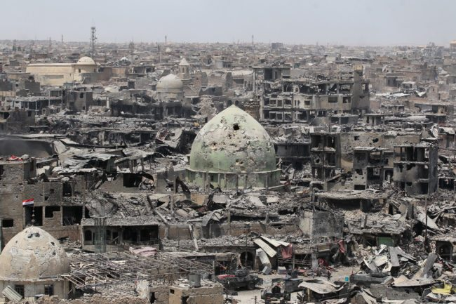 Devastation in city of Mosul after battles with ISIS