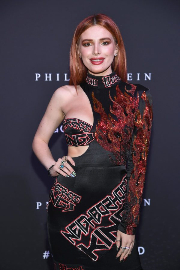 NEW YORK, NY - SEPTEMBER 09: Bella Thorne attends the Philipp Plein fashion show during New York Fashion Week: The Shows at Hammerstein Ballroom on September 9, 2017 in New York City. (Photo by Dimitrios Kambouris/Getty Images For NYFW: The Shows)