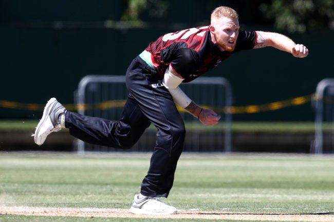 AUCKLAND, NEW ZEALAND - DECEMBER 06:  Ben Stokes of Canterbury bowls during the Ford Trophy match between Auckland and Canterbury at Eden Park on December 6, 2017 in Auckland, New Zealand.  (Photo by Phil Walter/Getty Images)