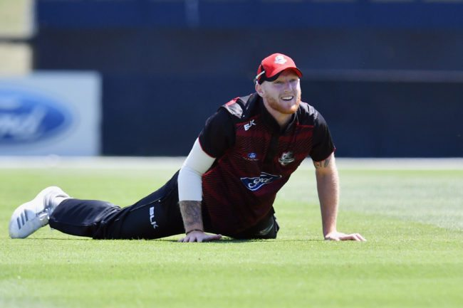 CHRISTCHURCH, NEW ZEALAND - DECEMBER 10:  Ben Stokes of Canterbury looks dejected after missing a catch during the One Day Ford Trophy Cup match between Canterbury and Northern Districts on December 10, 2017 in Christchurch, New Zealand.  (Photo by Kai Schwoerer/Getty Images)