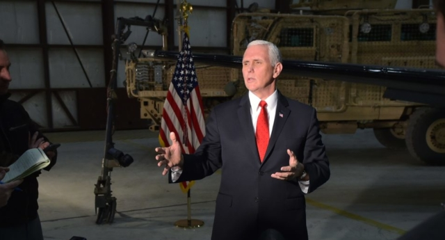 Pence: US Supports Two-State Solution