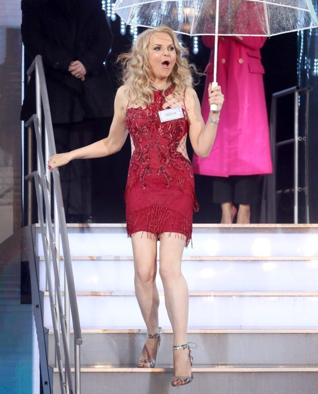 """India Willoughby enters the """"Celebrity Big Brother"""" (Photo by Tim P. Whitby/Getty Images)"""