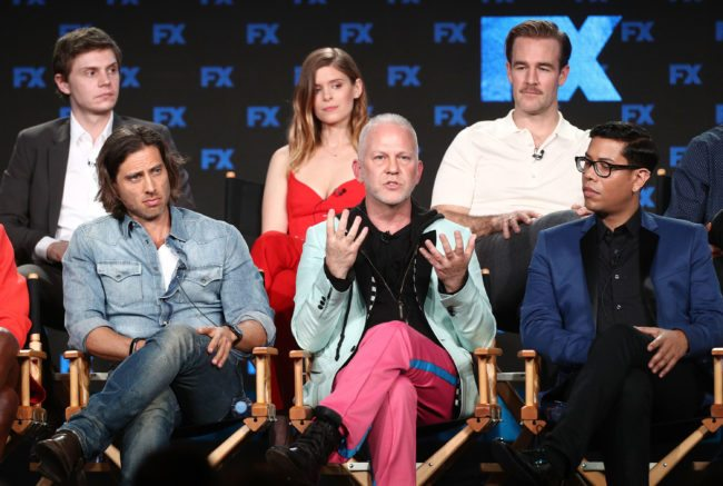 PASADENA, CA - JANUARY 05:  Co-creator/showrunner/executive producer/writer/director Ryan Murphy of the television show POSE speaks onstage during the FOX/FX Networks portion of the 2018 Winter Television Critics Association Press Tour at The Langham Huntington, Pasadena on January 5, 2018 in Pasadena, California.  (Photo by Frederick M. Brown/Getty Images)