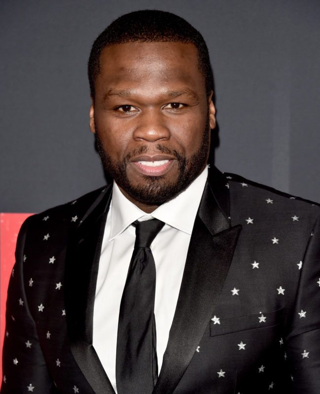 """LOS ANGELES, CA - JANUARY 17: 50 Cent attends the premiere of STX Films' """"Den of Thieves"""" at Regal LA Live Stadium 14 on January 17, 2018 in Los Angeles, California. (Photo by Alberto E. Rodriguez/Getty Images)"""
