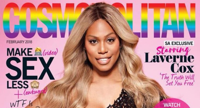 LGBT activist Laverne Cox becomes first transgender model on Cosmopolitan cover