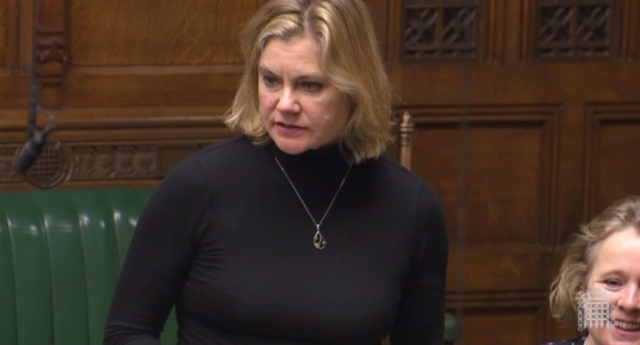 The former minister spoke from the backbenches