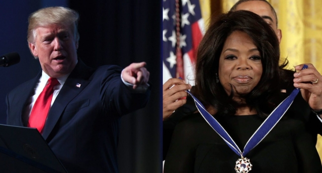 Trump insists he would beat Oprah in presidential race
