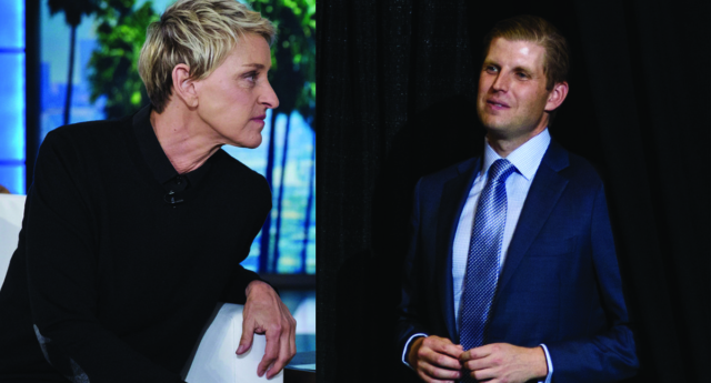 Ellen DeGeneres Skewers Eric Trump For His Bizarre Conspiracy Theory