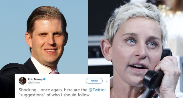 Ellen DeGeneres denies Eric Trump's theory she's part of 'deep state'