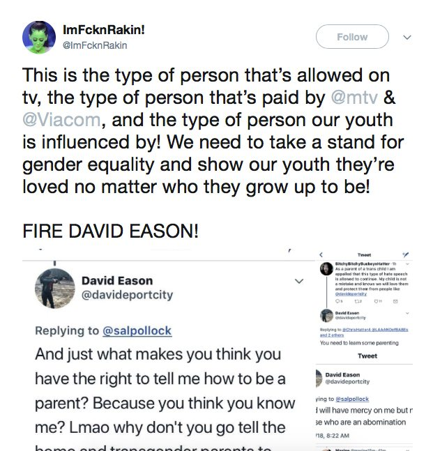 MTV Fires Jenelle Evans' Husband David Eason From 'Teen Mom 2'