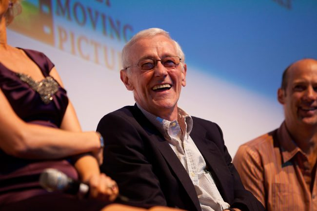 """INDIANAPOLIS - AUGUST 02:  John Mahoney during the Q&A session following the screening of """"Flipped"""" at the Hilbert Circle Theatre on August 2, 2010 in Indianapolis, Indiana.  (Photo by Joey Foley/Getty Images)"""