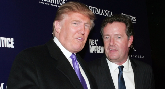 Donald Trump and Piers Morgan (Photo by John W. Ferguson/Getty Images)