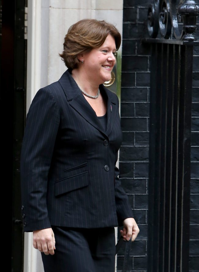 LONDON, ENGLAND - SEPTEMBER 04: MP Maria Miller leaves No 10 Downing Street as Culture Secretary on the day Prime Minister David Cameron holds a government reshuffle on September 4, 2012 in London, England. David Cameron today holds his first major Cabinet reshuffle since becoming Prime Minister in a shake-up aimed at restoring confidence in the coalition and reinvigorating the economy. (Photo by Rosie Hallam/Getty Images)