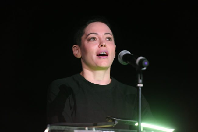 LOS ANGELES, CA - APRIL 09:  Actor Rose McGowan speaks onstage at the screening of 'Lady in the Dark' during the 2017 TCM Classic Film Festival on April 9, 2017 in Los Angeles, California. 26657_006  (Photo by Matt Winkelmeyer/Getty Images for TCM)