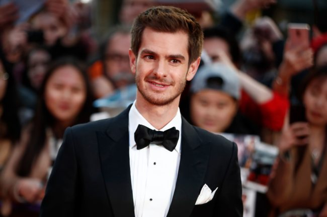 "Actor Andrew Garfield poses upon arrival for the European premiere of the film ""Breathe"" during the opening night gala event for the BFI London Film Festival in London on October 4, 2017.   / AFP PHOTO / Tolga AKMEN        (Photo credit should read TOLGA AKMEN/AFP/Getty Images)"