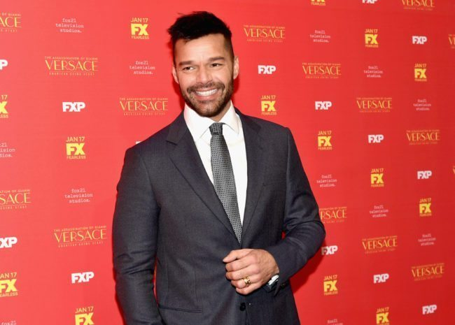 "NEW YORK, NY - DECEMBER 11: Ricky Martin attends ""The Assassination Of Gianni Versace: American Crime Story"" New York Screening at Metrograph on December 11, 2017 in New York City. (Photo by Mike Coppola/Getty Images)"