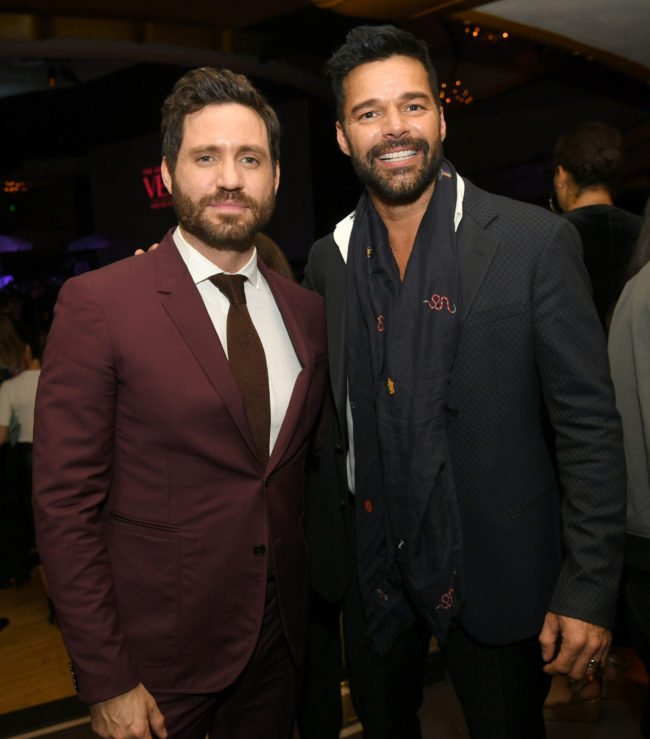 "LOS ANGELES, CA - JANUARY 08: Actors Edgar Ramirez (L) and Ricky Martin pose at the after party for the premiere of FX's ""The Assassination Of Gianni Versace: American Crime Story"" at the Hollywood Palladium on January 8, 2018 in Los Angeles, California. (Photo by Kevin Winter/Getty Images)"