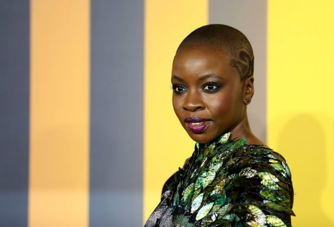 LONDON, ENGLAND - FEBRUARY 08:  Danai Gurira attends the European Premiere of 'Black Panther' at Eventim Apollo on February 8, 2018 in London, England.  (Photo by Tim P. Whitby/Tim P. Whitby/Getty Images)