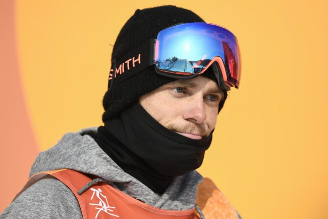 US Gus Kenworthy reacts as he competes in a run of the men's ski slopestyle final event during the Pyeongchang 2018 Winter Olympic Games at the Phoenix Park in Pyeongchang on February 18, 2018. / AFP PHOTO / Martin BUREAU        (Photo credit should read MARTIN BUREAU/AFP/Getty Images)