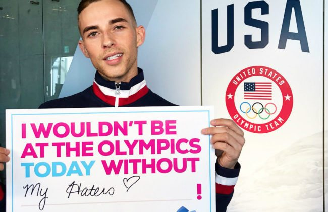 Adam Rippon has revealed his celebrity crush to Ellen DeGeneres