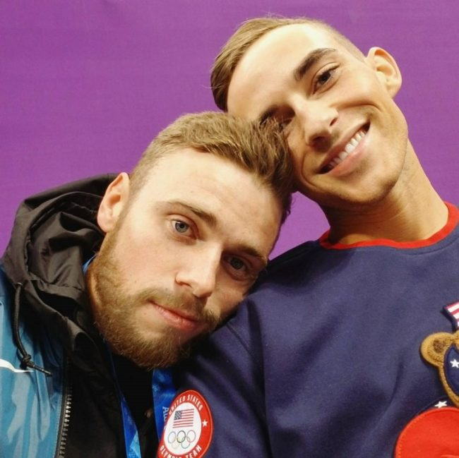 Gus Kenworthy Kisses Boyfriend Matt Wilkas During NBC Olympics Telecast