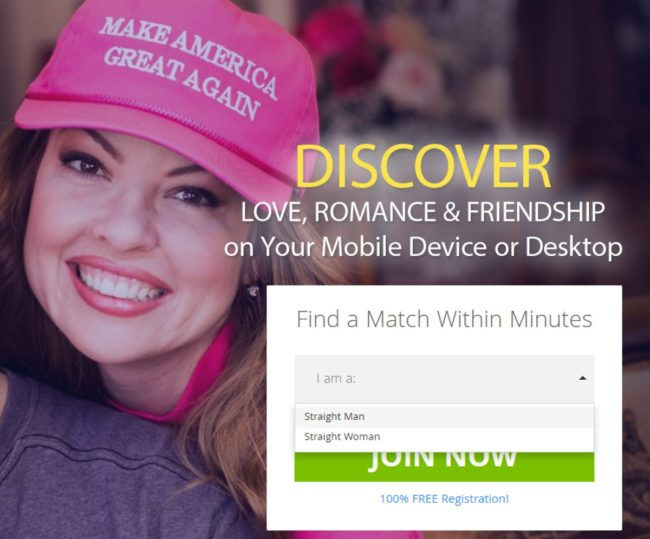 Trump dating site spokesmodel has a child sex conviction