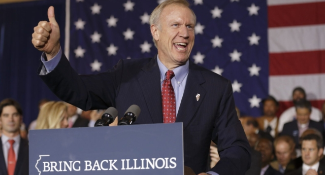 Republican Governor of Illinois Bruce Rauner (Photo by John Gress/Getty Images)