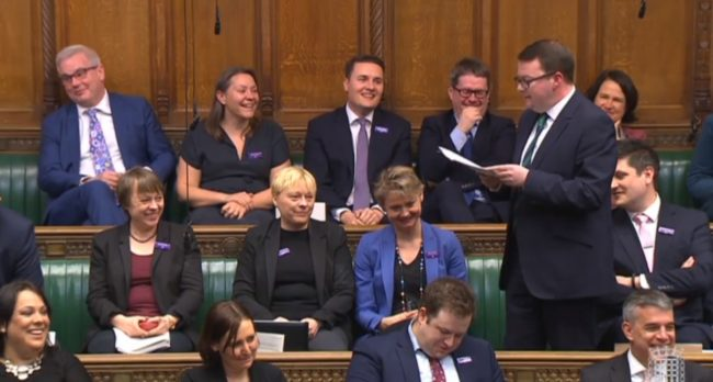 Conor McGinn proposing bill to House of Commons (Parliament TV)
