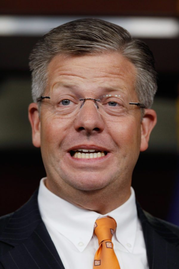 "WASHINGTON, DC - OCTOBER 04:  U.S. Rep. Randy Hultgren (R-IL) calls on the Senate pass the budget that cleared the House last April during a news conference at the U.S. Capitol October 4, 2011 in Washington, DC. Noting that the Senate has not passed a budget in 888 days, Hultgren and fellow House GOP freshmen put forward their ""Operation Turnaround,"" a slate of 12 House-passed bills they say will spur job growth, reduce regulation, shrink the national debt and balance the budget.  (Photo by Chip Somodevilla/Getty Images)"