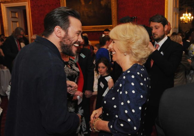 LONDON, ENGLAND - MAY 29: Camilla, Duchess of Cornwall and Will Young atend The Final Of BBC2's 500 Words Competition St James Palace on May 29, 2015 in London, England. (Photo by Eamonn M. McCormack - WPA Pool/Getty Images)