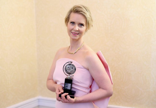 NEW YORK, NY - JUNE 11:  Cynthia Nixon, winner of the award for Best Featured Actress in a Play for ?The Little Foxes,? poses in the press room during the 2017 Tony Awards at 3 West Club on June 11, 2017 in New York City.  (Photo by Jemal Countess/Getty Images for Tony Awards Productions)