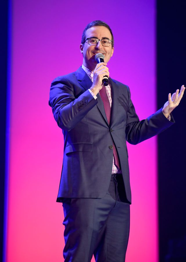 NEW YORK, NY - JUNE 19: John Oliver speaks onstage during The Trevor Project TrevorLIVE NYC 2017 at Marriott Marquis Times Square on June 19, 2017 in New York City. (Photo by Dimitrios Kambouris/Getty Images for Trevor Live)